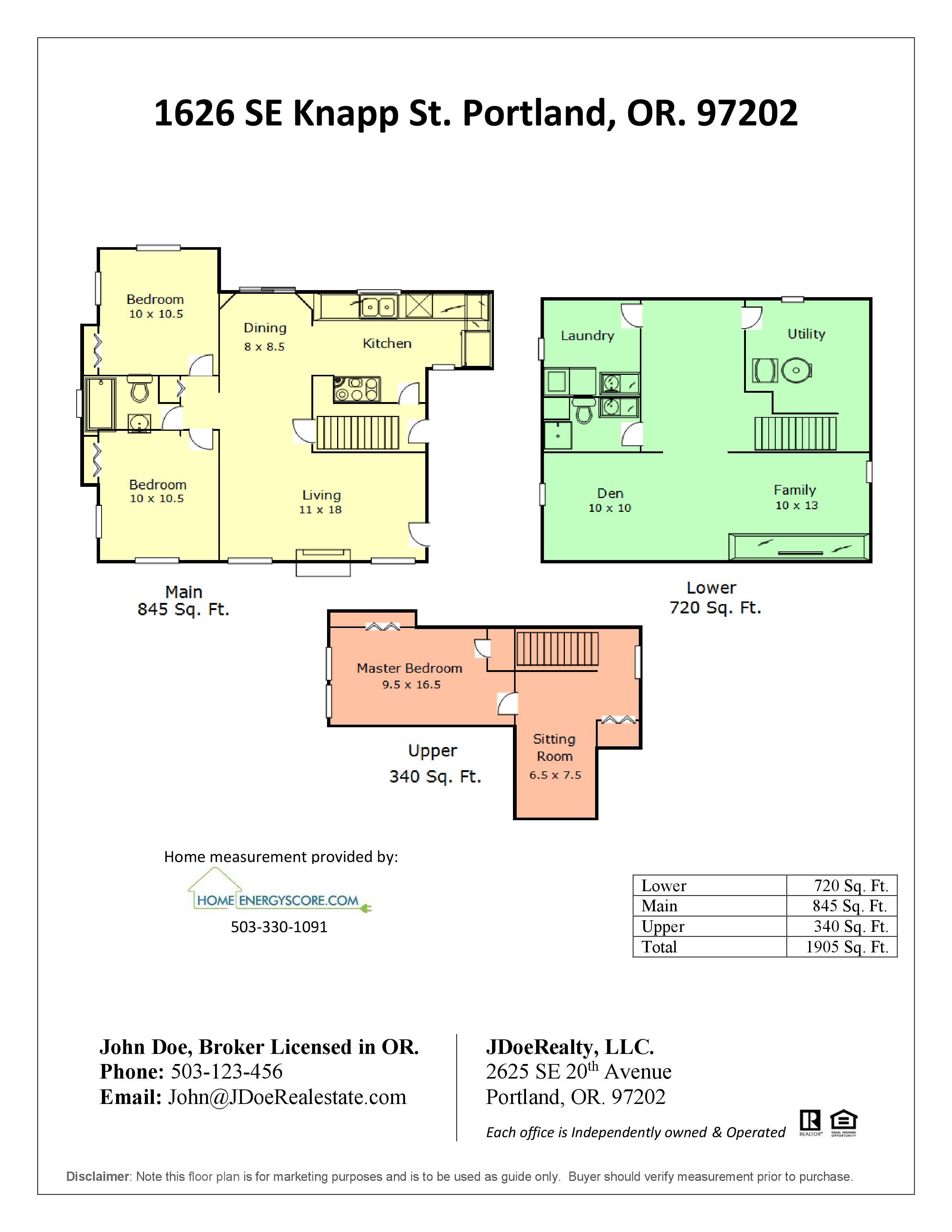 Floor Plans Home Energy Score